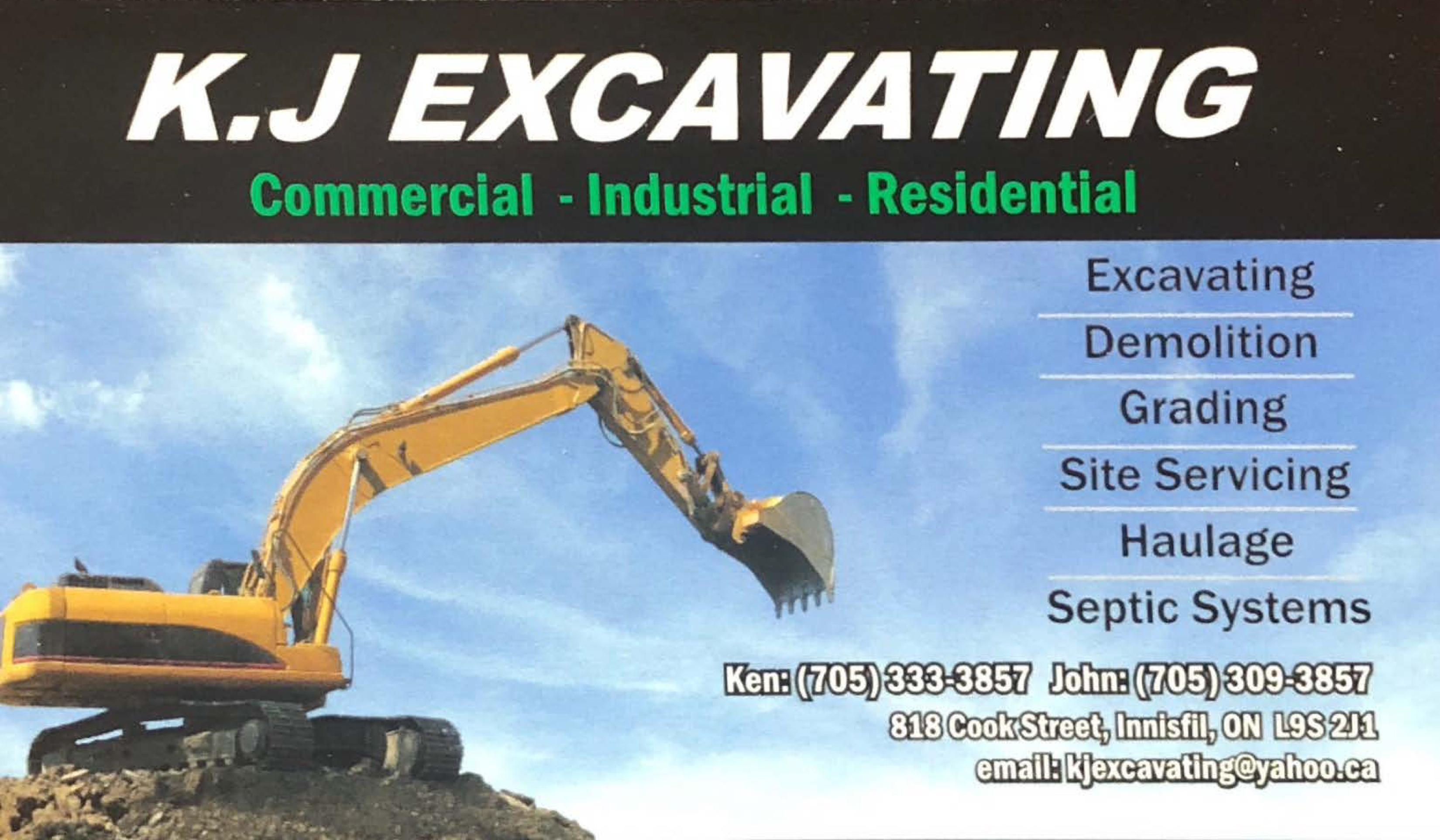 KJ Excavating Member Page